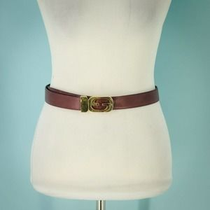 Gucci S/6 Leather Double GG Reversible Belt